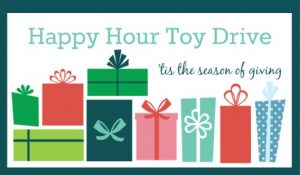 Happy Hour Toy Drive Graphic